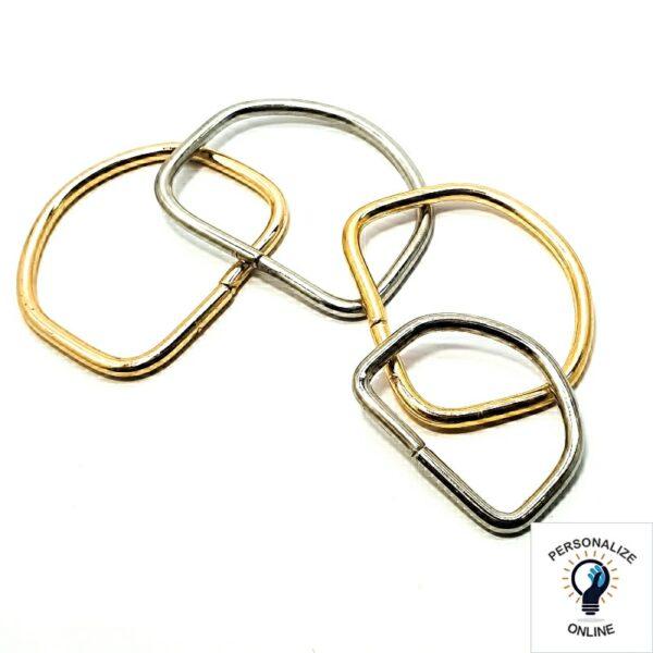 Meia argolas varios tamanhos douradas e pratas