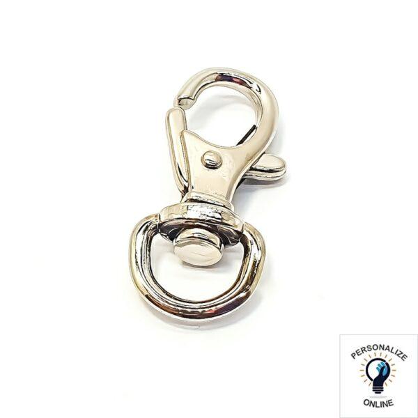 Mosquetão bala para chaveiro prata