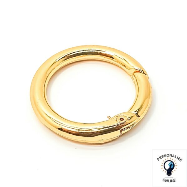 argola mosquetão dourada