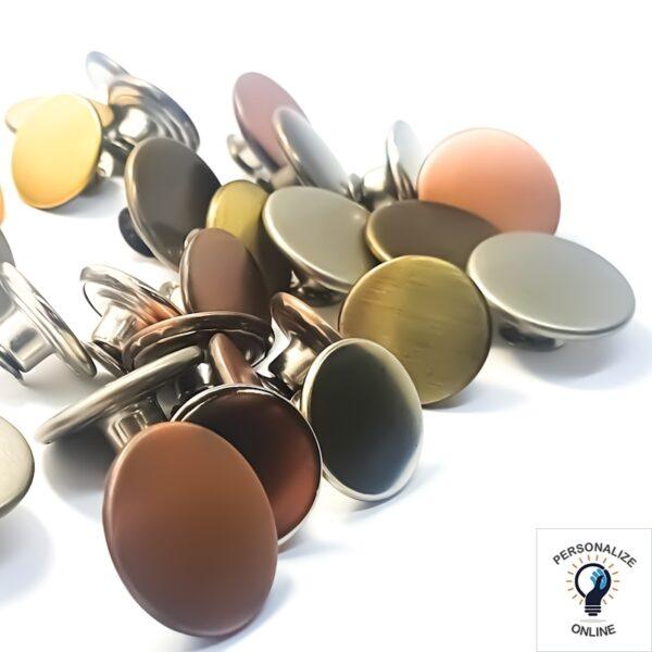 Botão latonado varias cores-prata-ouro-velho-latonado-cobre