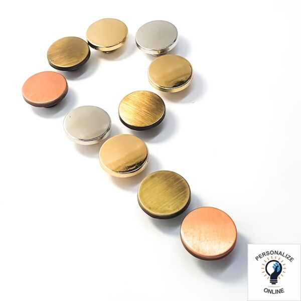 Botão zamac várias cores