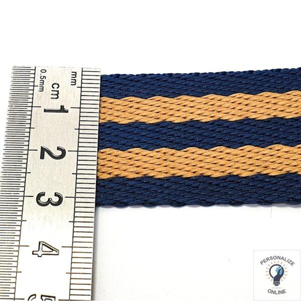 Alça chic avelã e azul 1 metro