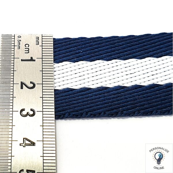 Alça Chic azul e branco 1 metro