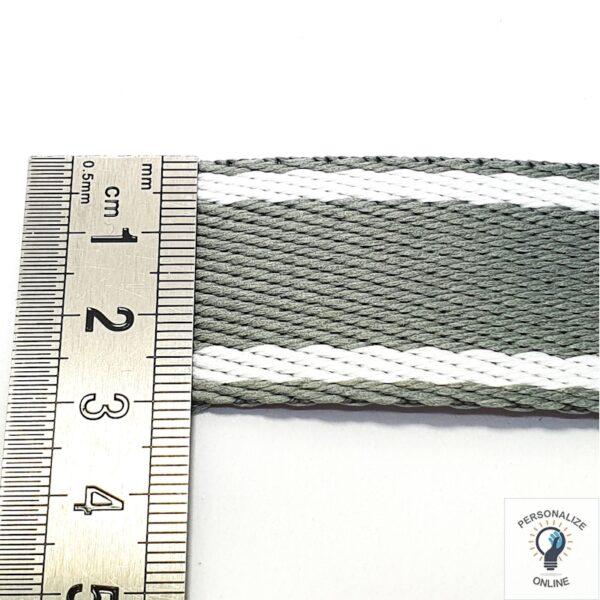 Alça chic verde e branco 30 mm