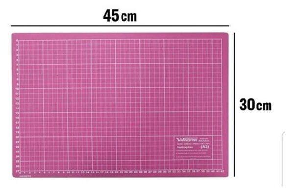 base de corte 45x30 rosa